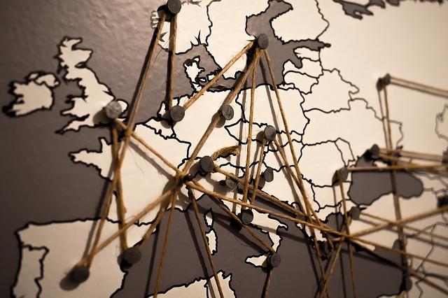 propojení na mapě