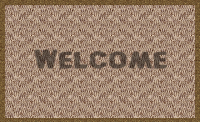 rohožka s pozdravem